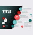simple infographic report template vector image vector image
