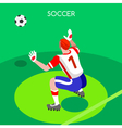 Soccer Goalkeeper 2016 Summer Games 3D vector image vector image