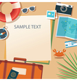 summer and travel flat design banner template vector image vector image