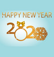 symbols beginning new 2020 year vector image vector image