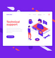 technical support people and interact vector image