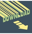 The word download with an arrow 3d vector image