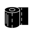 toilet paper icon black sign vector image