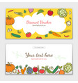 vegetables cute banner background template vector image vector image