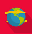 wind on earth icon flat style vector image vector image