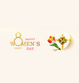 womens day greeting card horizontal banner vector image