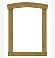 wooden antique window or door frame arch vector image vector image