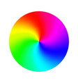 color wheel abstract colorful rainbow vector image