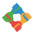 community hands icon vector image