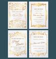save the date luxury wedding invitation vector image