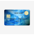 Bank card credit card discount card design vector image vector image