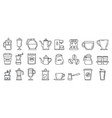 barista coffee icons set outline style vector image vector image