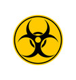 biohazard sign warning radiation hazard warning vector image