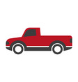 black and red pick-up truck vector image vector image