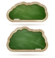 Blank green Blackboard cloud set EPS 10 vector image vector image