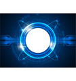 blue futuristic digital circle technology vector image vector image
