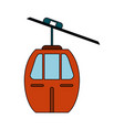 cableway mountain transport vector image vector image