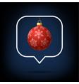 card or flyer christmas realistic ball on like vector image