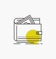 cash finance money personal purse line icon vector image vector image