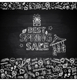 Chalk board Spring Sale vector image