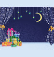 christmas holiday background with gifts on stage vector image vector image