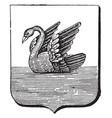 coat of arms western australia vintage vector image vector image