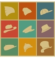 colorful hats vector image