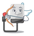 cupid hard drive in shape of mascot vector image vector image
