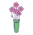 cute bouquet of flowers vector image vector image