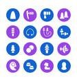 earplugs flat glyph icons healthy sleep without vector image vector image