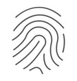 finger print thin line icon development vector image vector image