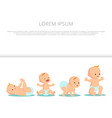 first babys steps banner design - cute baby vector image