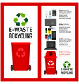 garbage red container info with e-waste vector image