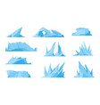 glaciers icebergs ice mountains and compressed vector image