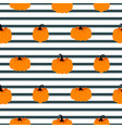 halloween pumpkin seamless striped pattern vector image vector image
