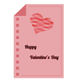 happy valentines day - red paper list vector image vector image