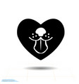 heart black icon love symbol dog tongue in vector image vector image