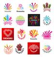 large set of logos fireworks vector image