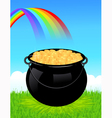 Money cauldron vector image vector image