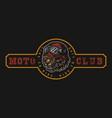 motorcycle club vintage colorful logo vector image vector image