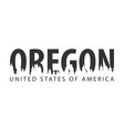 oregon usa united states of america text or vector image vector image