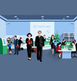 People In Bank vector image vector image