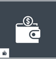 personal wallet related glyph icon vector image vector image