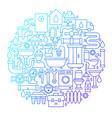 plumbing line icon circle design vector image vector image