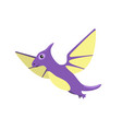 pteranodon dinosaur with wings vector image vector image
