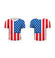 realistic sport t-shirt with usa flag from front vector image
