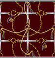 seamless pattern with belts chain and braid vector image vector image