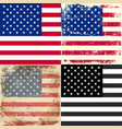 set collection american flag vector image