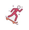 skateboard icon design vector image