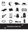 sleeping time simple black icons set eps10 vector image vector image